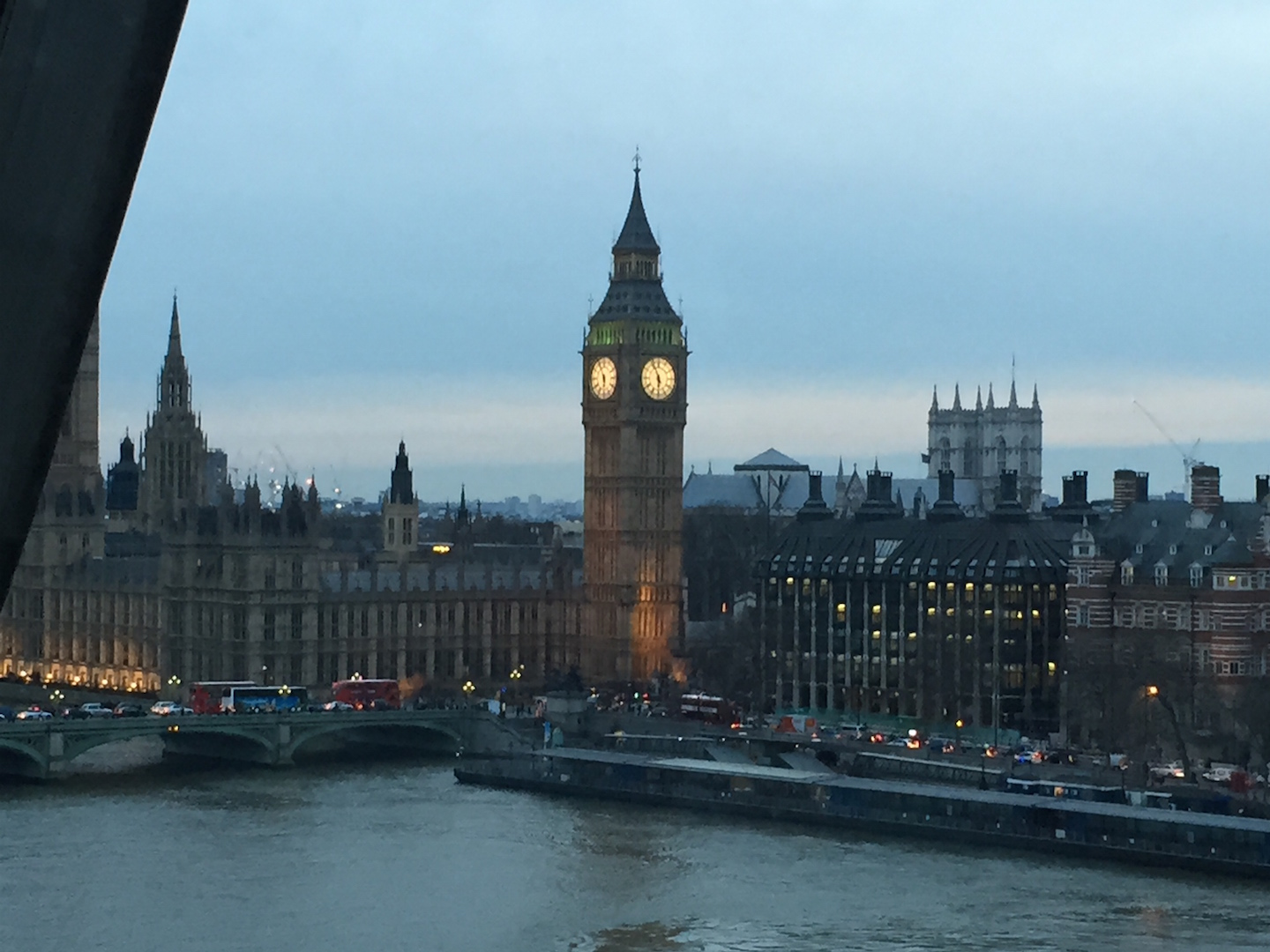Caught a glimpse of Big Ben